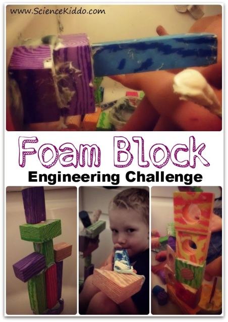 Science Kids Foam Block Engineering Challenge