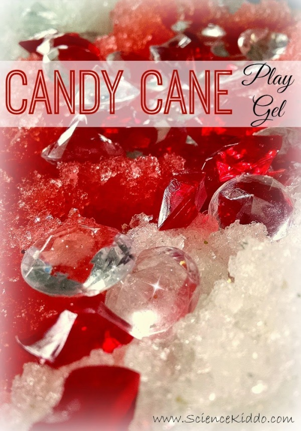 Candy Cane Play Gel | Winter Sensory Fun