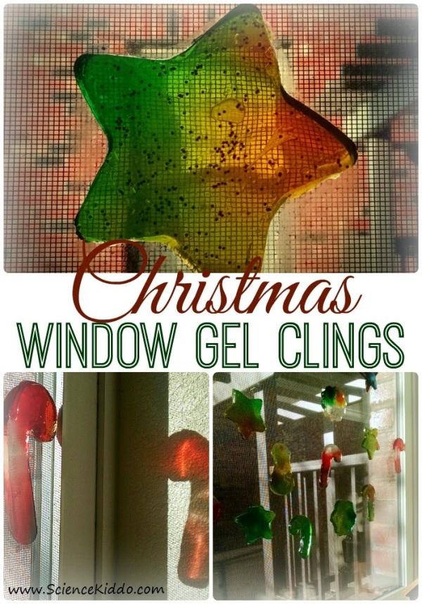 DIY Window Gel Clings | Christmas/Winter