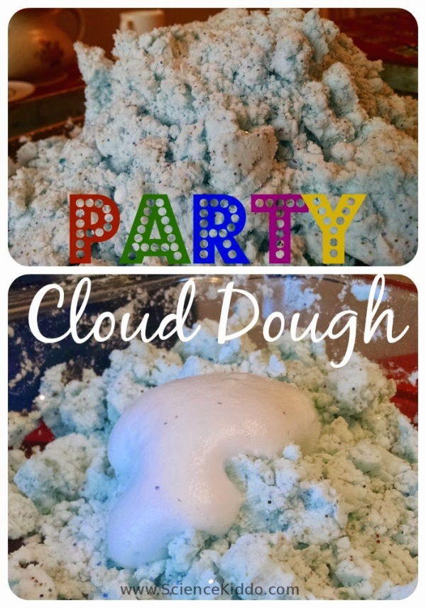 Party Cloud Dough | Glittery Fizz | Science Play for Kids